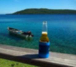 Cold beer at Wahoo Bar Havannah harbour Vanuatu