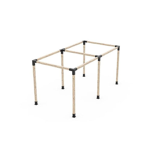 Any Size Double Pergola Kit for 4x4 Wood Post