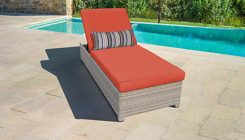 Fairmont Wheeled Chaise Outdoor Wicker Patio Furniture