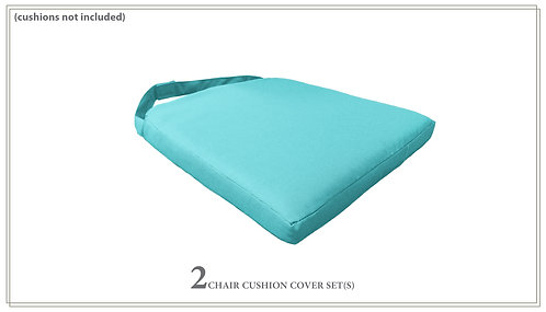2 Covers for Dining Chair Cushions