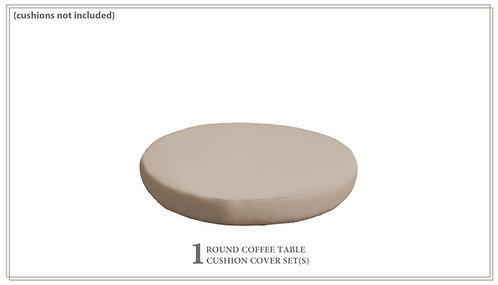 Cover for Round Ottoman Cushions 6in
