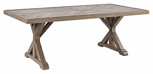 Beachcroft Outdoor Dining Table with Umbrella Option