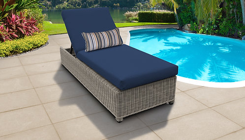 Coast Wheeled Chaise Outdoor Wicker Patio Furniture