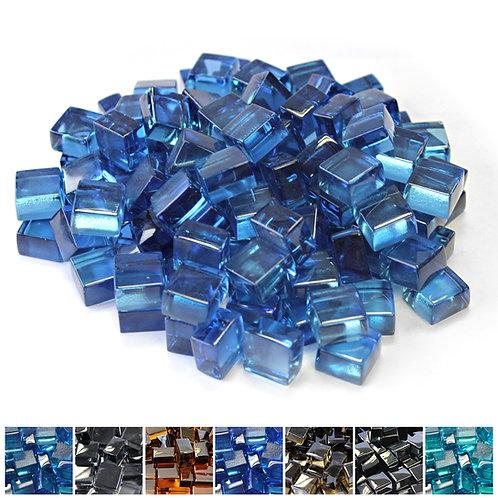 Pacific Blue 1/2 Reflective Fireglass Cubes - 10 lb bag