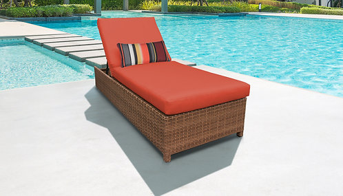 Laguna Wheeled Chaise Outdoor Wicker Patio Furniture