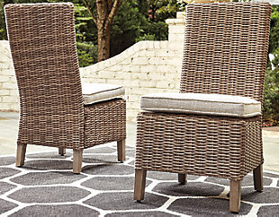 Beachcroft Outdoor Side Chair with Cushion (Set of 2)