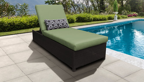 Barbados Wheeled Chaise Outdoor Wicker Patio Furniture