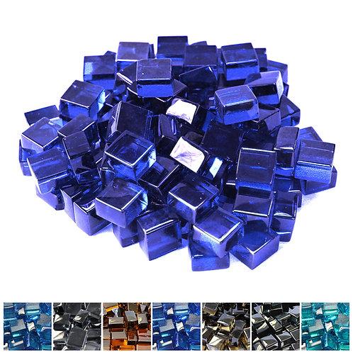 Cobalt Blue 1/2 Reflective Fireglass Cubes - 10 lb bag
