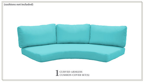 Covers for High-Back Curved Armless Sofa Cushions 6in