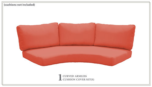 Covers for Low-Back Curved Armless Sofa Cushions 6in