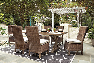 Beachcroft Outdoor Dining Table and 6 Chairs