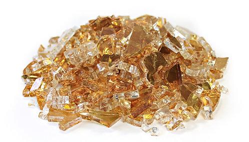 Gold 1/4 Reflective Fireglass - 10 lb bag