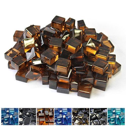 Copper 1/2 Reflective Fireglass Cubes - 10 lb bag