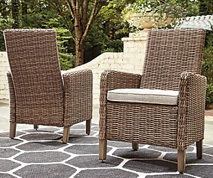 Beachcroft Outdoor Arm Chair with Cushion (Set of 2)