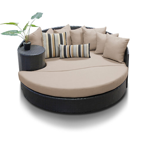 Newport Circular Sun Bed - Outdoor Wicker Patio Furniture