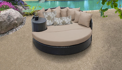 Belle Circular Sun Bed - Outdoor Wicker Patio Furniture