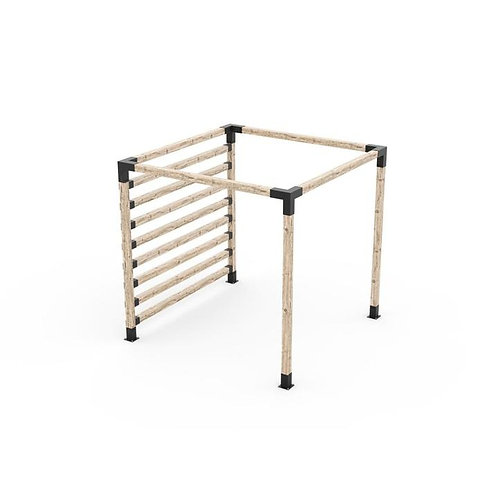 Any Size Pergola Kit with Post Wall for 4x4 Wood Posts