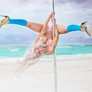 Pole Fitness on the Beach