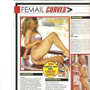 New Year Edition of American Curves Magazine Carmen Electra Issue