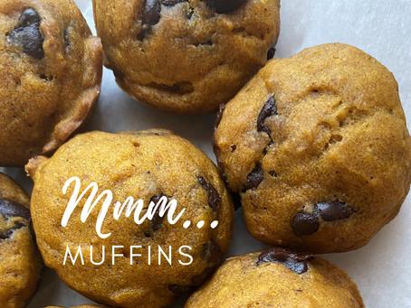 Ema's Famous (Pumpkin & Chocolate Chip) Mini Muffins