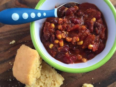 Our favourite black bean chili