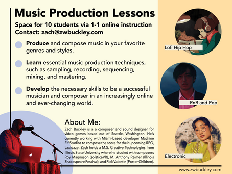 I'm Offering Music Production Lessons