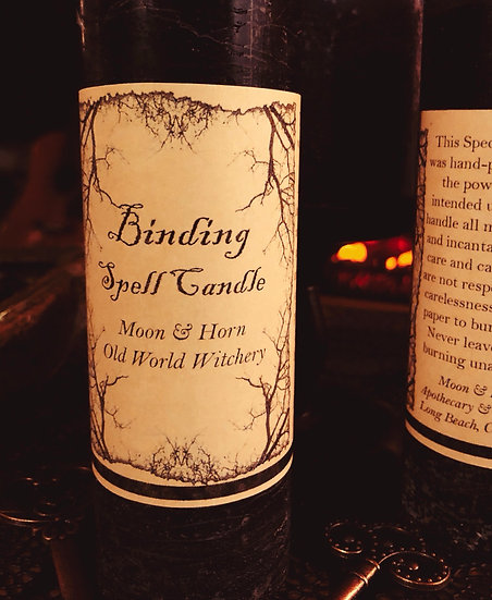 Moon & Horn Hand Poured Binding Spell Candle