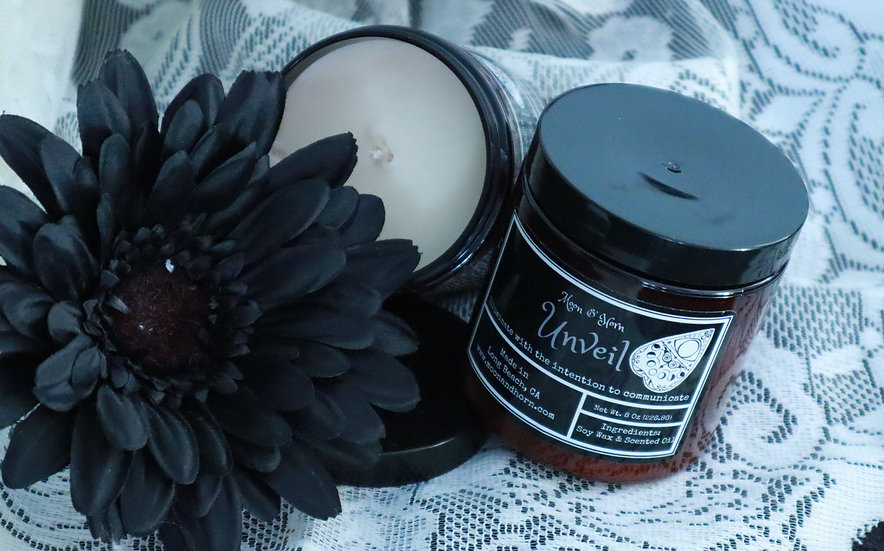 "Moon & Horn ""Unveil"" Soy Wax Candle"