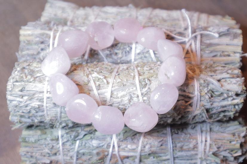 Rose Quartz Bracelet (large tumbled stones)