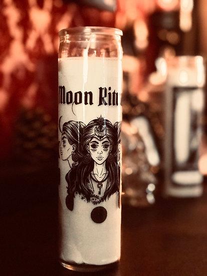 Moon Ritual Prayer Candle