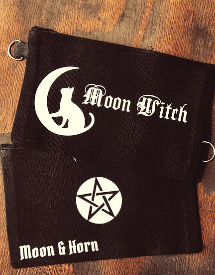 Moon Witch makeup/multiuse canvas pouch