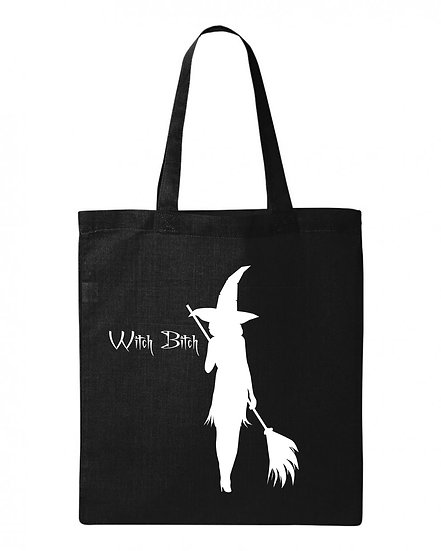 Moon & Horn Witch Bitch Logo Tote Bag