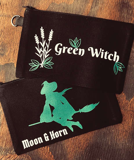 Green Witch Makeup/Multiuse canvas pouch