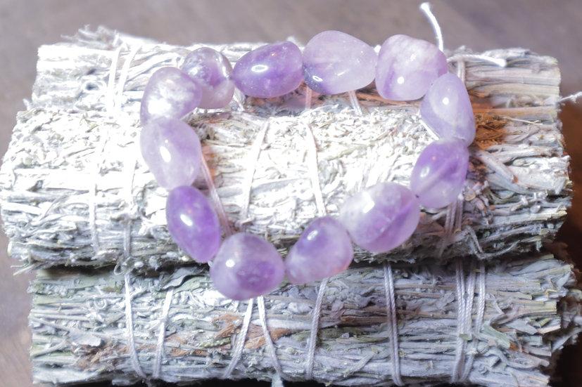 Amethyst Bracelet (large tumbled stones)