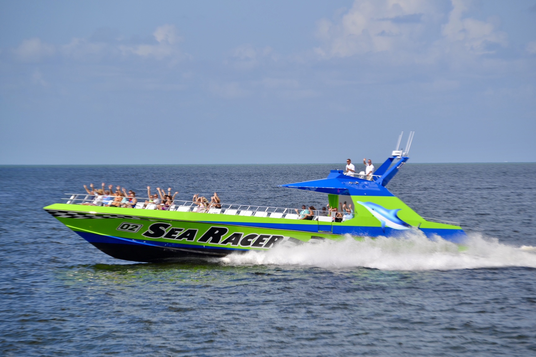 Speed boat tour in Fort Myers Beach, FL