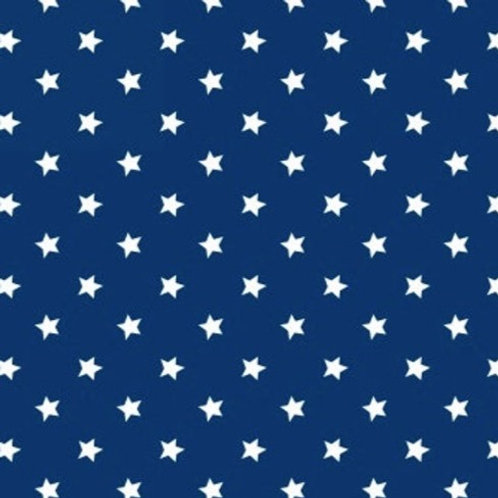 Cotton Face Mask - Navy & White Stars