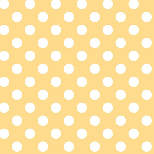 Cotton Face Mask - Yellow & White Dot