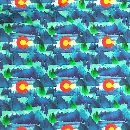 Cotton Face Mask - Colorado Flags
