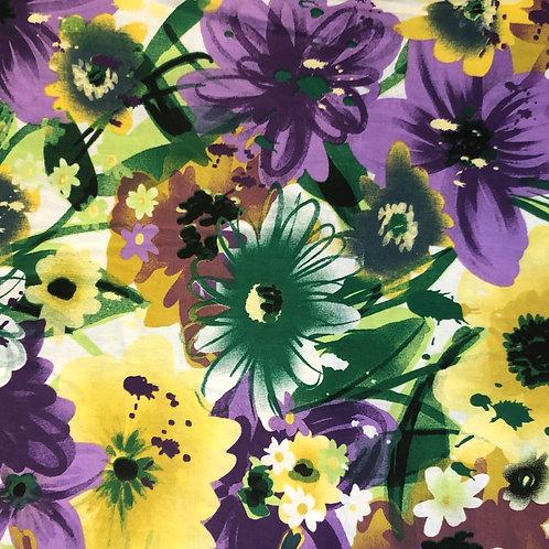 Windowed Face Mask - Spring Flowers