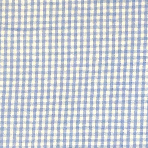 Cotton Face Mask - Light Blue Gingham