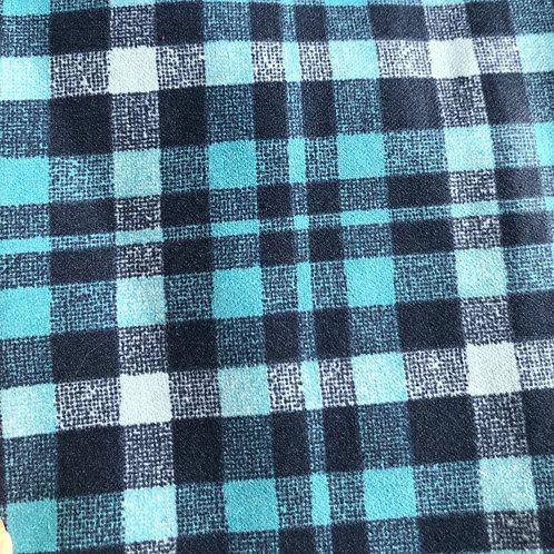 Cotton Flannel Face Mask- Blue Plaid