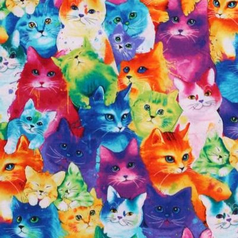 Cotton Face Mask - Colorful Cats