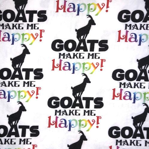 Cotton Face Mask - Goats Make Me Happy