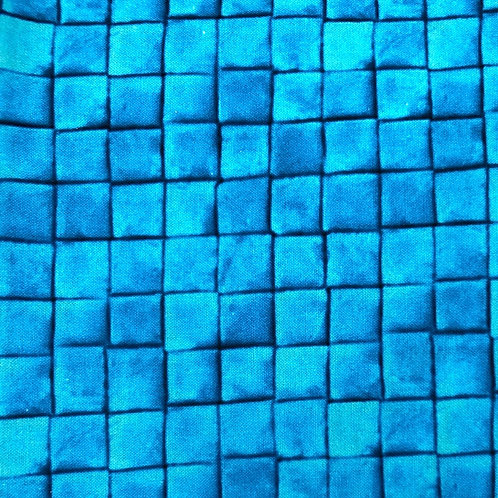 Windowed Face Mask - Blue Tile