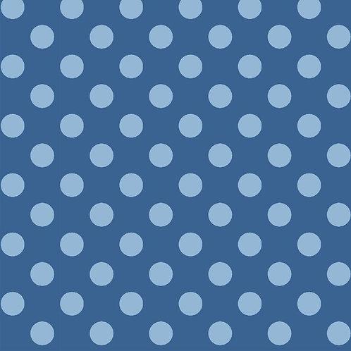 Cotton Face Mask - Blue Dot