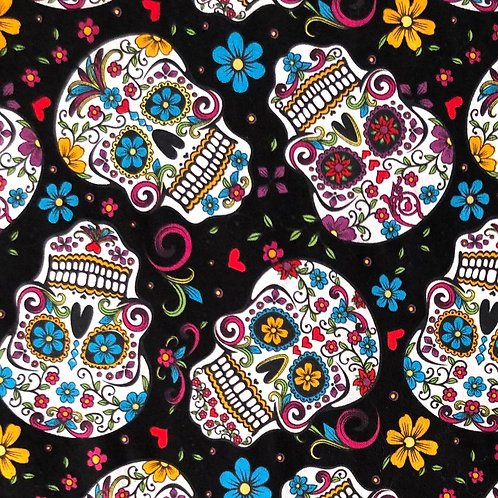 Cotton Face Mask- Sugar Skulls