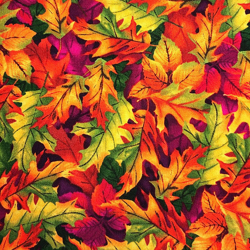Cotton Face Mask - Fall Leaves