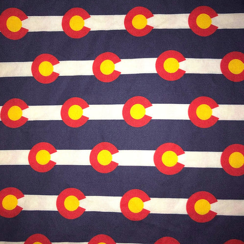 Cotton Face Mask - Colorado State Flags