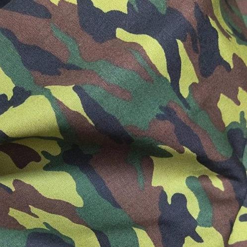 Cotton Face Mask - Army Camo