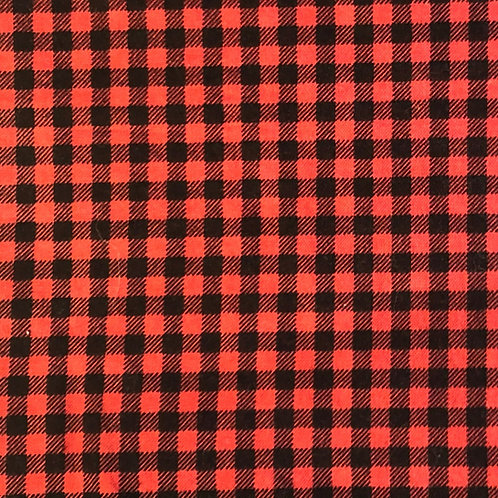 Windowed Face Mask -Red & Black Gingham